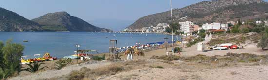 Villa Dora, Tolo, Argolida - View of Tolo from the Sandy Beach